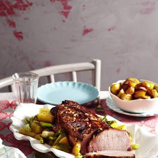 Caribbean Roast Pork with Sautéed Potatoes.