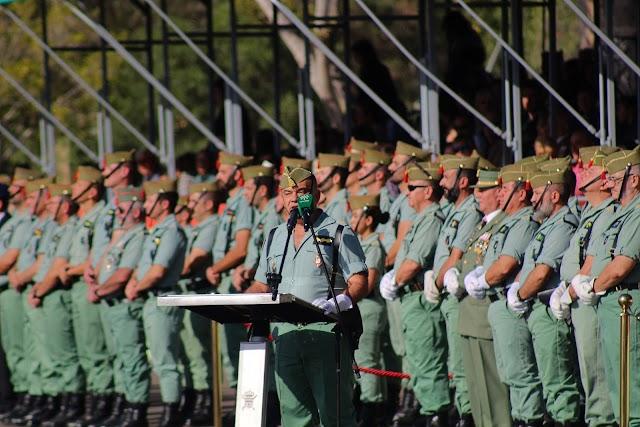 Alocución del coronel Cepeda, jefe accidental de la Brigada de La Legión.