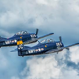 WWII Navy Fighter Aircraft by Joe Saladino - Transportation Airplanes ( airshow, navy, airplane, warplane, fighter aircraft )