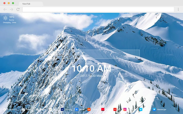 Mountain Peak New Tab Page Themes
