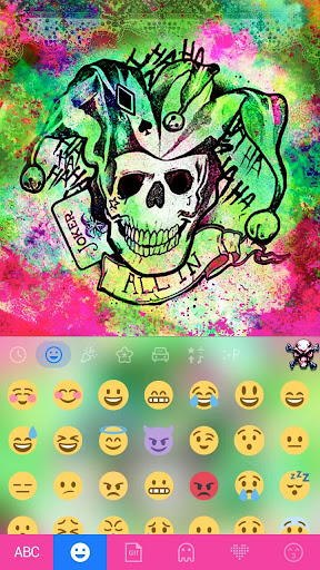 Joker Emoji Keyboard Theme screenshot