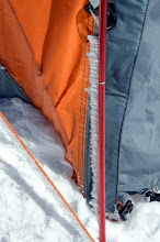 Photo: Horizontal ice on the tent poles