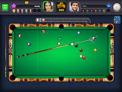 8 Ball Pool Mod Apk 4.8.5 (Long Lines + Stick Guideline + No Ads) 8