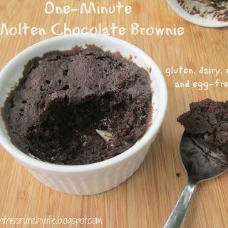 One Minute Molten Chocolate Brownie (gluten/dairy/egg/nut free).