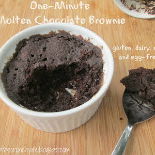 One Minute Molten Chocolate Brownie (gluten/dairy/egg/nut free).