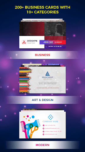 Digital Business Card Maker, ID Card Maker Business app for Android Preview 1