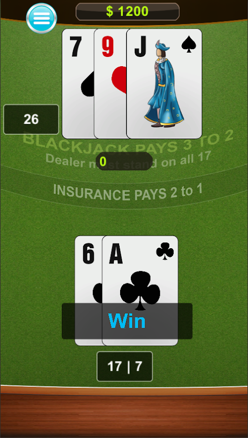 Blackjack free card game- screenshot