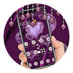 Glitter Violet Silver Luxury Theme Icon