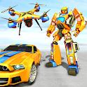 Drone Robot Car Game - Robot Transforming Games icon
