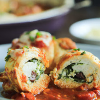 Spinach and Feta Stuffed Chicken Breasts.
