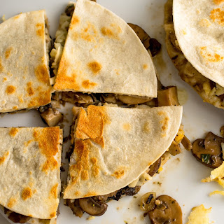 Quesadilla With Mushroom Ragoût and Chipotles