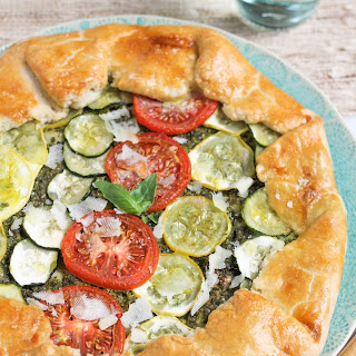 Summer Vegetable Galette with Pesto Recipe