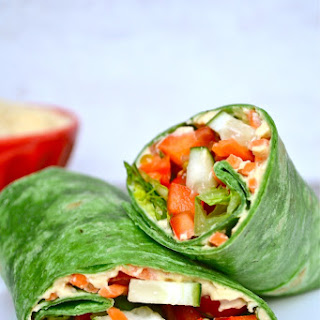 Vegetable Hummus Wrap Recipe