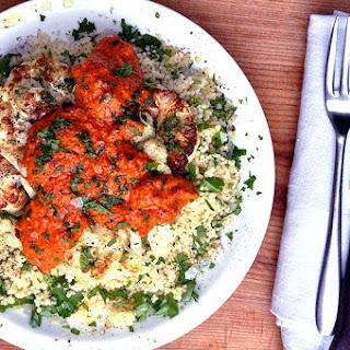 Cauliflower Steaks with Spicy Romesco Sauce Recipe