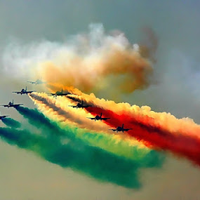 Frecce Tricolori by Michael Schwartz - Transportation Airplanes ( colorful, mood factory, vibrant, happiness, January, moods, emotions, inspiration,  )