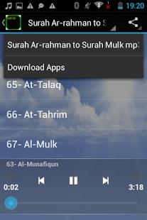 Quran MP3 Surah ArRahman -Mulk - Apps on Google Play