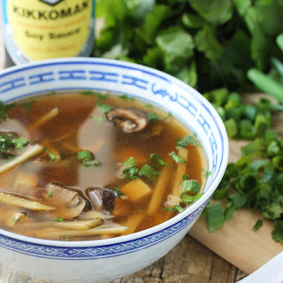 Slow Cooker Chinese Hot and Sour Soup.