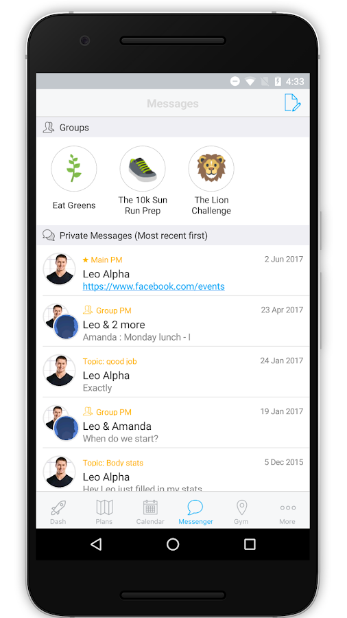 The TurnFit App- screenshot