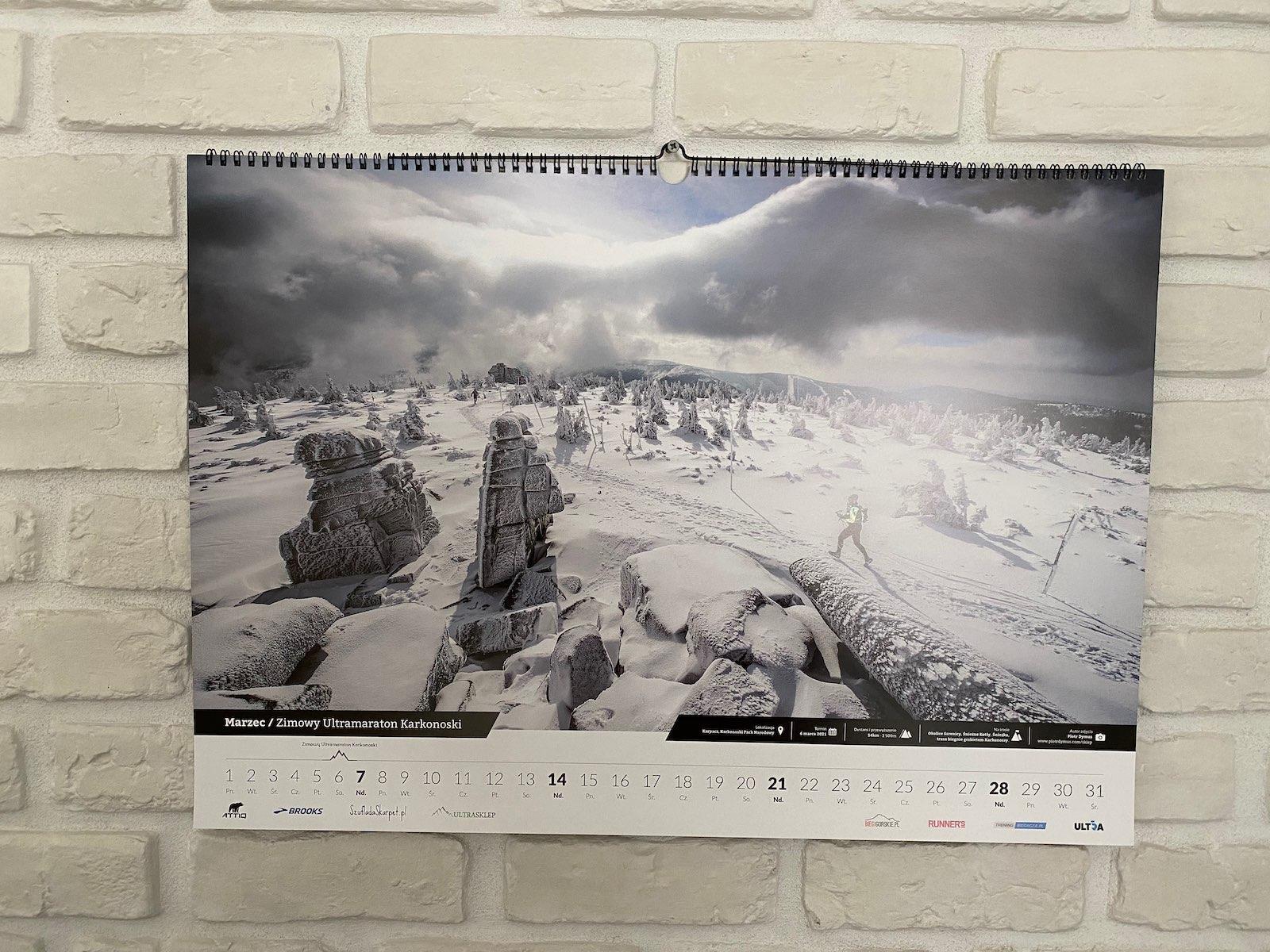 Kalendarz ścienny Ultratrail to wymarzony prezent