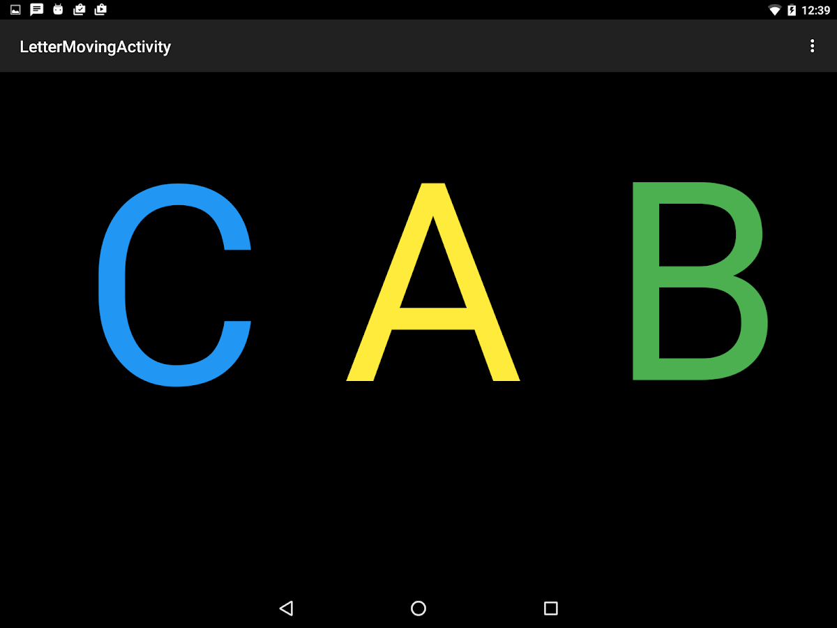 Visible Letters- screenshot