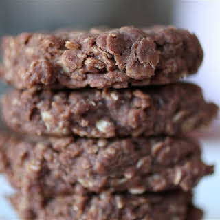 Chocolate Peanut Butter No-Bake Cookies.