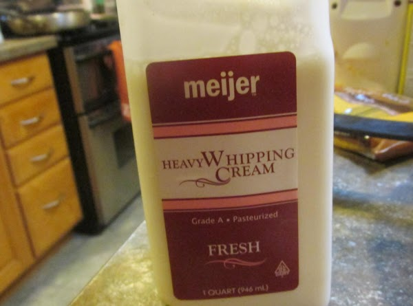 Measure out 1 cup of heavy whipping cream.