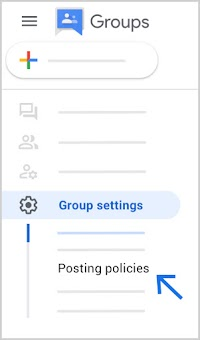Find Posting policies at bottom left