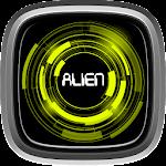 Star Space Alien Neon Icon