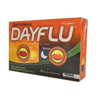 Acetaminofen + Clorfeniramina Dayflu Dia/Noche 500/2mg 15 Cápsulas Vivax