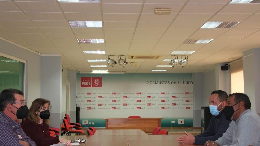 Reunión en la sede del PSOE de El Ejido.