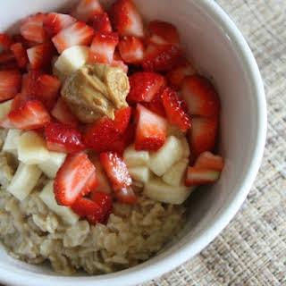 Peanut Butter Berry Oatmeal.