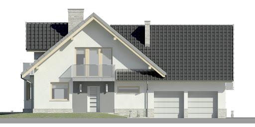 Dom przy Cyprysowej 15 K3 - Elewacja przednia