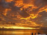 Photo: #192-Coucher de soleil sur la plage de l'Hermitage aux Villas du Lagon