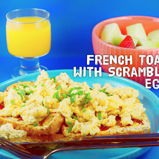 French Toast with Scrambled Eggs – Recipe by Blogtastic Food.