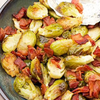 Roasted Brussels Sprouts Recipe with Bacon