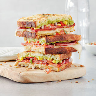 Mexican Grilled Cheese Sandwiches with Pico de Gallo.