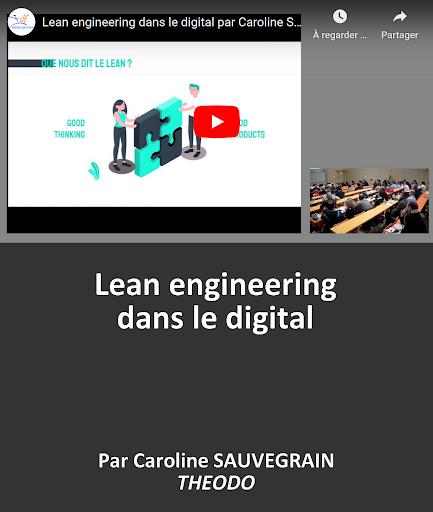 VIDEO en replay Lean engineering dans le digital par Caroline SAUVEGRAIN - Directrice des opérations - THEODO