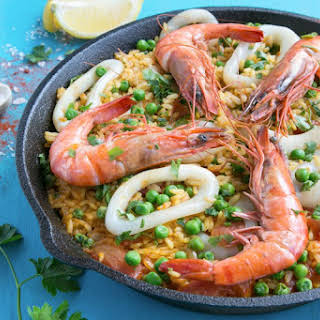 Easy Healthy Seafood Paella.