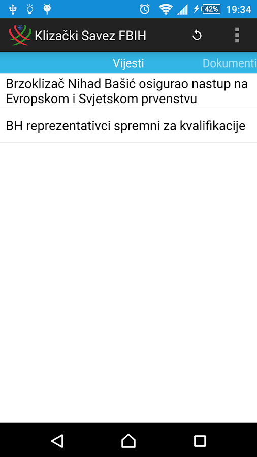 Klizacki Savez FBIH- screenshot