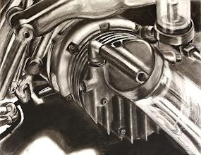 Photo: charcoal on paper // carburetor