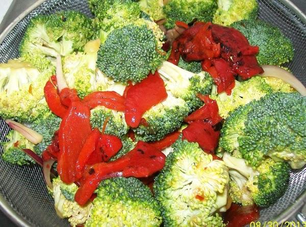 Drain the vegetables before you sauté them.