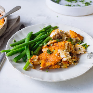 Hot Smoked Salmon & Coconut Fish Pie With Carrot Mash