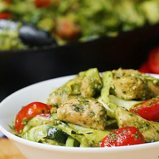 """Chicken Pesto and Zucchini """"Pasta"""" Recipe"""