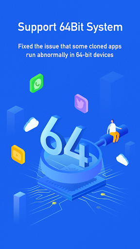 Dual Space Blue - 64Bit Support 1.0 screenshots 1