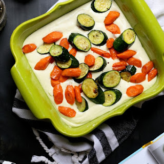 Savory Cheesecake with Roasted Vegetables