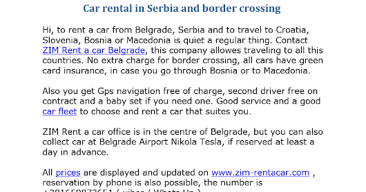 Car rental in Serbia and border crossing.docx