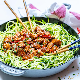 Kung Pao Chicken + Zoodles.