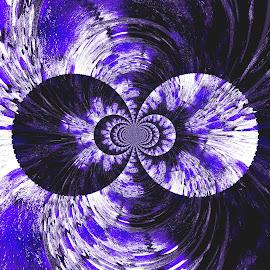 Purple Madness by Audra Lowrey Crall - Digital Art Abstract ( kaleidoscope, abstract art, purple, amateur, digital art )