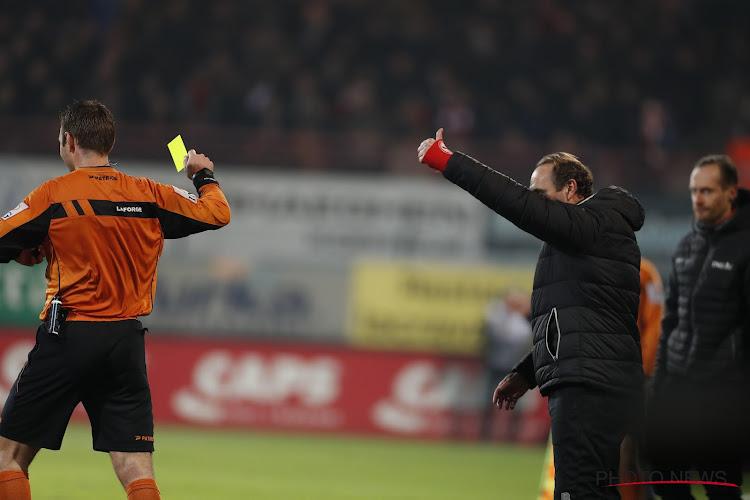 """Vanderhaeghe kreeg rood: """"Blijkbaar mag je niets zeggen tegen de ref op het veld"""""""
