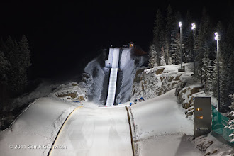 Photo: Vikersund HS225 - the inrun and the judge's tower